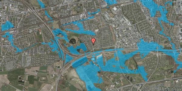 Oversvømmelsesrisiko fra vandløb på Rendsagervej 50, 2625 Vallensbæk