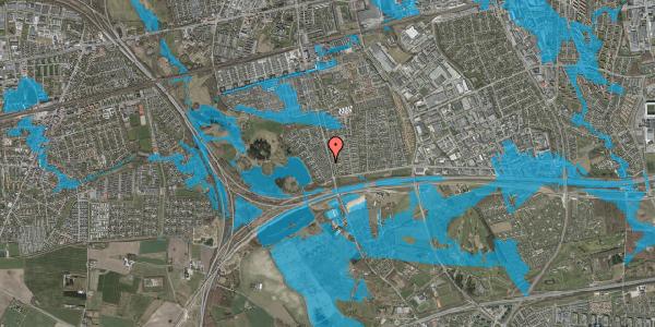 Oversvømmelsesrisiko fra vandløb på Rendsagervej 54, 2625 Vallensbæk