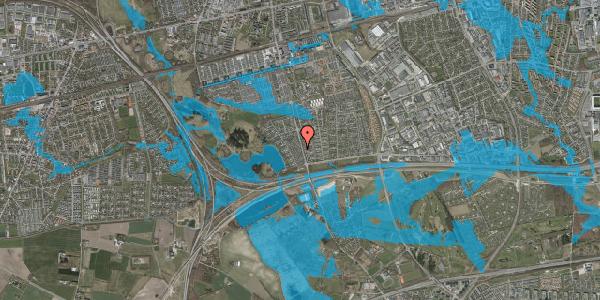Oversvømmelsesrisiko fra vandløb på Rendsagervej 56, 2625 Vallensbæk