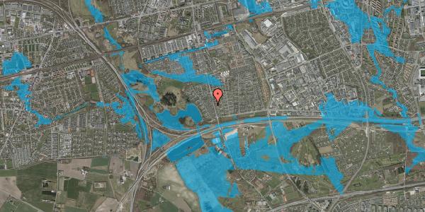 Oversvømmelsesrisiko fra vandløb på Rendsagervej 58, 2625 Vallensbæk