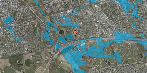 Oversvømmelsesrisiko fra vandløb på Rendsagervej 59, 2625 Vallensbæk