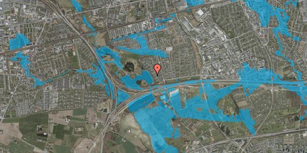 Oversvømmelsesrisiko fra vandløb på Rendsagervej 61, 2625 Vallensbæk