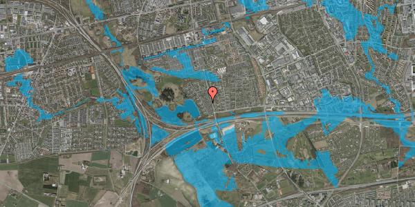 Oversvømmelsesrisiko fra vandløb på Rendsagervej 62, 2625 Vallensbæk