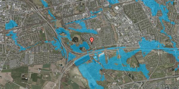 Oversvømmelsesrisiko fra vandløb på Rendsagervej 65, 2625 Vallensbæk