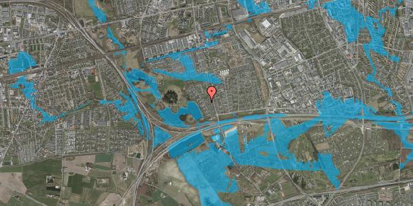 Oversvømmelsesrisiko fra vandløb på Rendsagervej 70, 2625 Vallensbæk