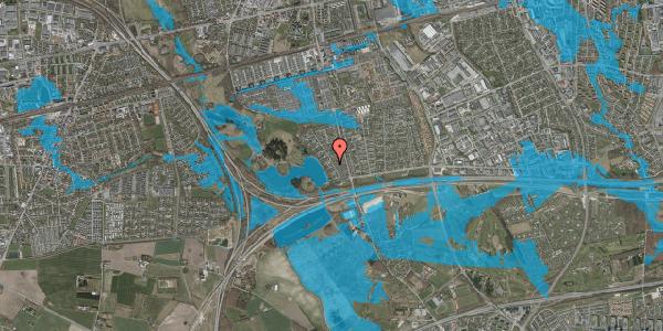 Oversvømmelsesrisiko fra vandløb på Rendsagervej 71, 2625 Vallensbæk