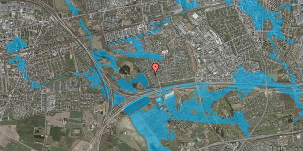 Oversvømmelsesrisiko fra vandløb på Rendsagervej 72, 2625 Vallensbæk