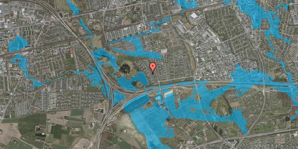 Oversvømmelsesrisiko fra vandløb på Rendsagervej 77, 2625 Vallensbæk