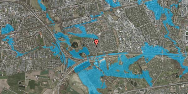 Oversvømmelsesrisiko fra vandløb på Rendsagervej 84, 2625 Vallensbæk