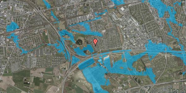 Oversvømmelsesrisiko fra vandløb på Rendsagervej 85, 2625 Vallensbæk