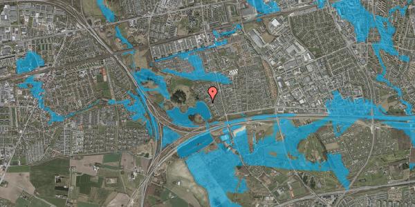 Oversvømmelsesrisiko fra vandløb på Rendsagervej 109, 2625 Vallensbæk