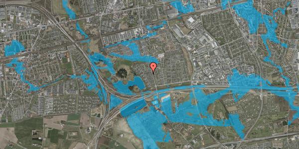 Oversvømmelsesrisiko fra vandløb på Rendsagervej 110, 2625 Vallensbæk