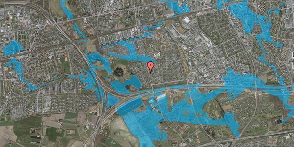 Oversvømmelsesrisiko fra vandløb på Rendsagervej 112, 2625 Vallensbæk