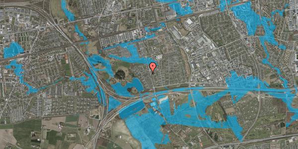 Oversvømmelsesrisiko fra vandløb på Rendsagervej 118, 2625 Vallensbæk