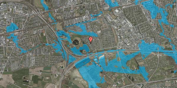 Oversvømmelsesrisiko fra vandløb på Rendsagervej 121, 2625 Vallensbæk