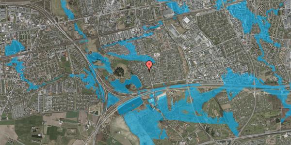 Oversvømmelsesrisiko fra vandløb på Rendsagervej 122, 2625 Vallensbæk