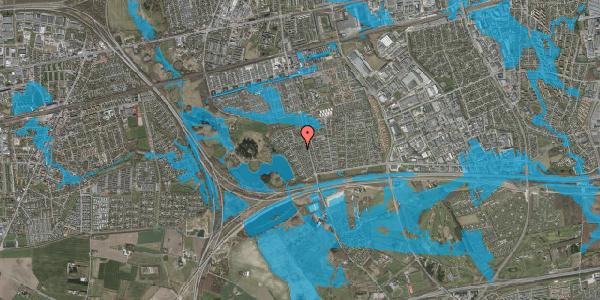 Oversvømmelsesrisiko fra vandløb på Rendsagervej 124, 2625 Vallensbæk