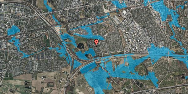 Oversvømmelsesrisiko fra vandløb på Rendsagervej 133, 2625 Vallensbæk
