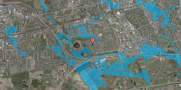 Oversvømmelsesrisiko fra vandløb på Rendsagervej 134, 2625 Vallensbæk