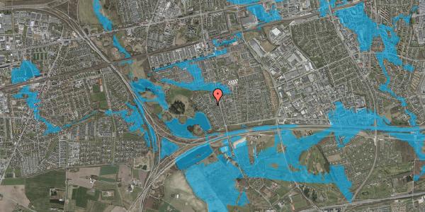 Oversvømmelsesrisiko fra vandløb på Rendsagervej 138, 2625 Vallensbæk