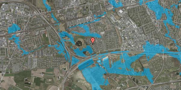 Oversvømmelsesrisiko fra vandløb på Rendsagervej 139, 2625 Vallensbæk