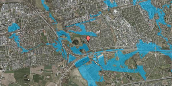 Oversvømmelsesrisiko fra vandløb på Rendsagervej 147, 2625 Vallensbæk