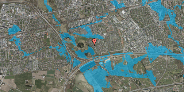 Oversvømmelsesrisiko fra vandløb på Rendsagervej 149, 2625 Vallensbæk
