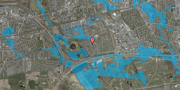 Oversvømmelsesrisiko fra vandløb på Rendsagervej 150, 2625 Vallensbæk