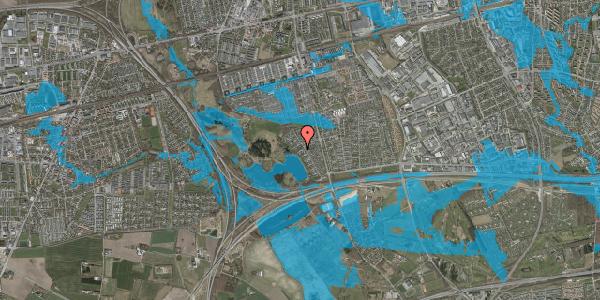 Oversvømmelsesrisiko fra vandløb på Rendsagervej 153, 2625 Vallensbæk