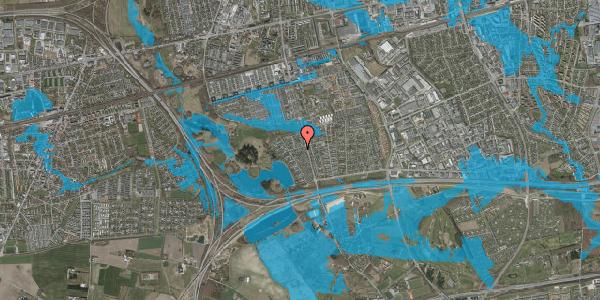 Oversvømmelsesrisiko fra vandløb på Rendsagervej 158, 2625 Vallensbæk