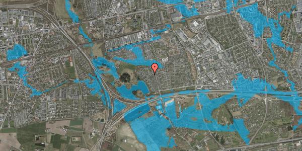Oversvømmelsesrisiko fra vandløb på Rendsagervej 160, 2625 Vallensbæk
