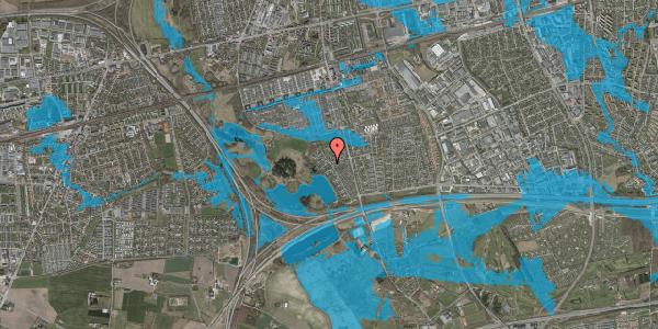Oversvømmelsesrisiko fra vandløb på Rendsagervej 161, 2625 Vallensbæk