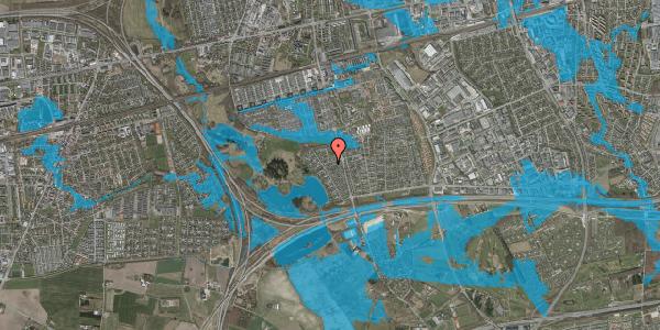 Oversvømmelsesrisiko fra vandløb på Rendsagervej 164, 2625 Vallensbæk