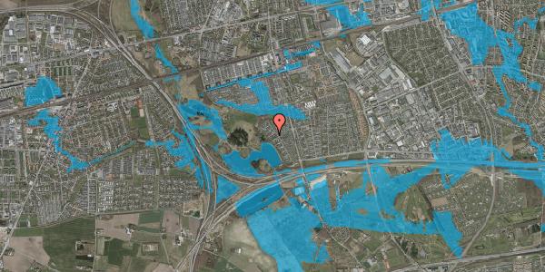 Oversvømmelsesrisiko fra vandløb på Rendsagervej 167, 2625 Vallensbæk