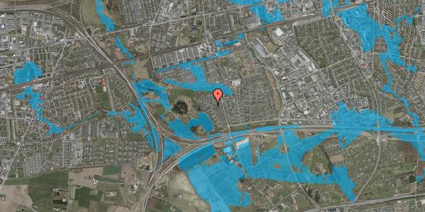 Oversvømmelsesrisiko fra vandløb på Rendsagervej 168, 2625 Vallensbæk