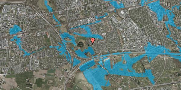 Oversvømmelsesrisiko fra vandløb på Rendsagervej 175, 2625 Vallensbæk