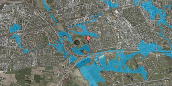 Oversvømmelsesrisiko fra vandløb på Rendsagervej 177, 2625 Vallensbæk