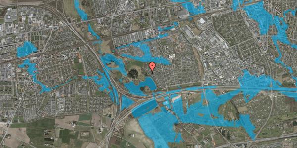 Oversvømmelsesrisiko fra vandløb på Rendsagervej 179, 2625 Vallensbæk