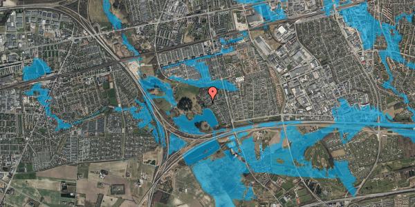 Oversvømmelsesrisiko fra vandløb på Rendsagervej 181, 2625 Vallensbæk