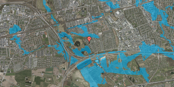 Oversvømmelsesrisiko fra vandløb på Rendsagervej 183, 2625 Vallensbæk