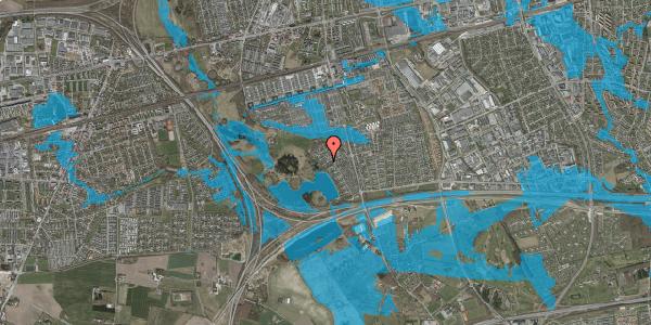Oversvømmelsesrisiko fra vandløb på Rendsagervej 187, 2625 Vallensbæk