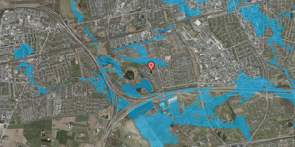 Oversvømmelsesrisiko fra vandløb på Rendsagervej 191, 2625 Vallensbæk