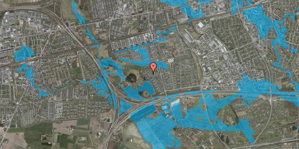 Oversvømmelsesrisiko fra vandløb på Rendsagervej 201, 2625 Vallensbæk