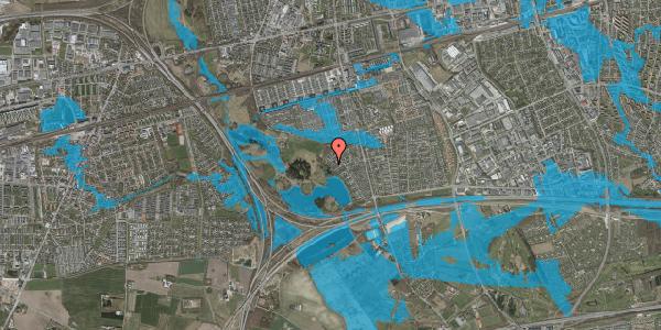 Oversvømmelsesrisiko fra vandløb på Rendsagervej 217, 2625 Vallensbæk