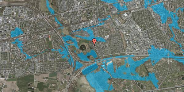 Oversvømmelsesrisiko fra vandløb på Rendsagervej 221, 2625 Vallensbæk