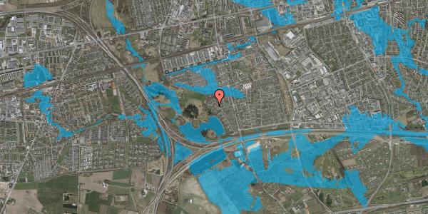 Oversvømmelsesrisiko fra vandløb på Rendsagervej 225, 2625 Vallensbæk