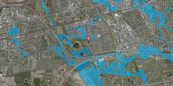 Oversvømmelsesrisiko fra vandløb på Rendsagervej 233, 2625 Vallensbæk