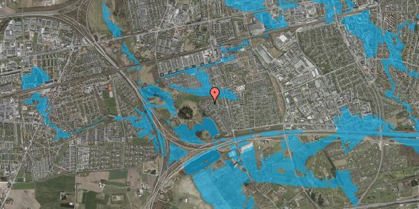 Oversvømmelsesrisiko fra vandløb på Rendsagervej 235, 2625 Vallensbæk