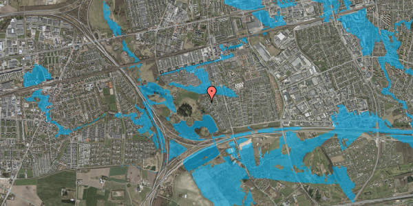 Oversvømmelsesrisiko fra vandløb på Rendsagervej 241, 2625 Vallensbæk