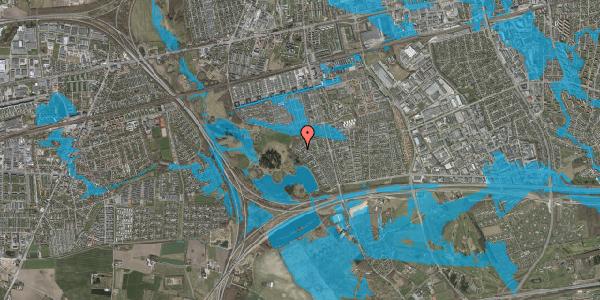 Oversvømmelsesrisiko fra vandløb på Rendsagervej 245, 2625 Vallensbæk